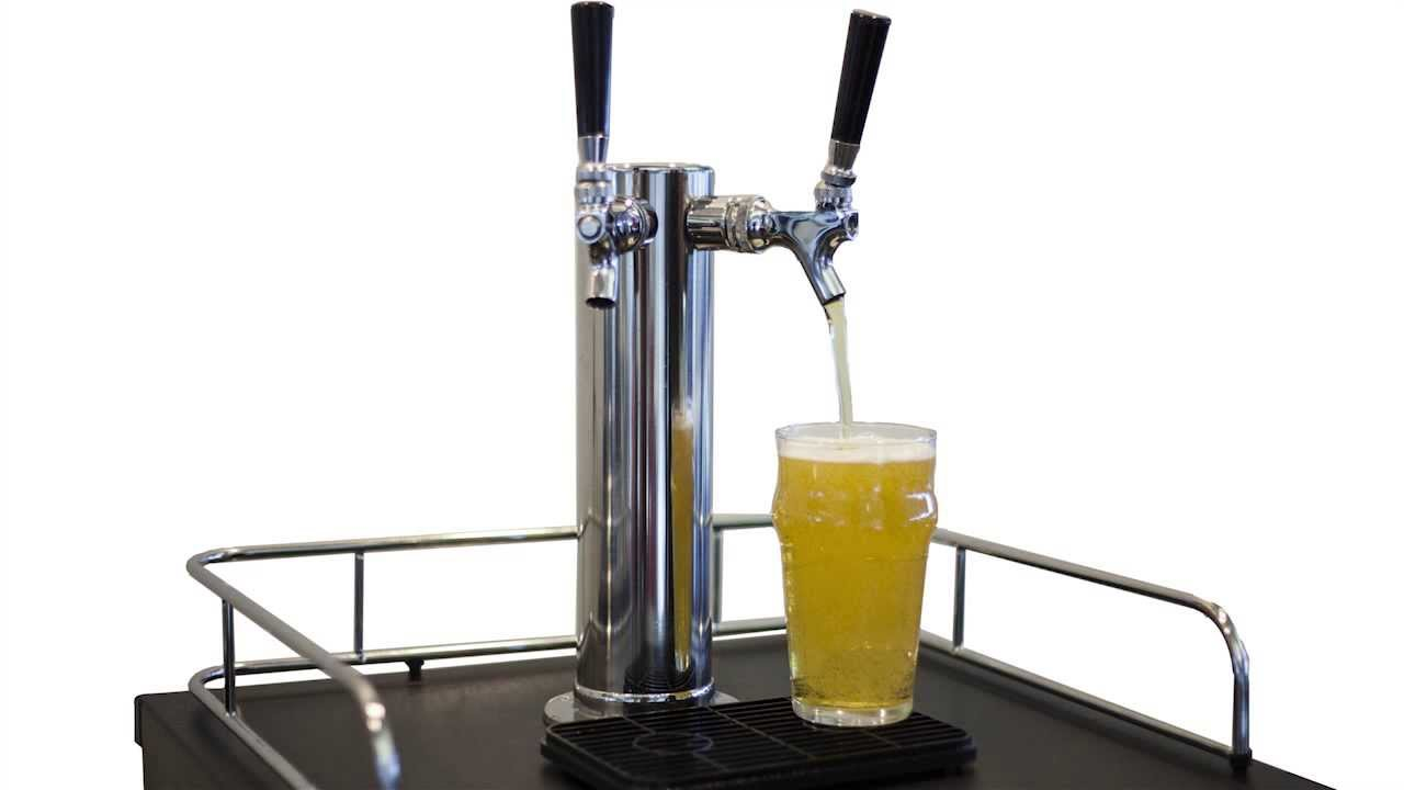 edgestar dual tap kegerator review ice cold beer on demand